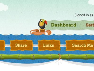 Navigation navigation menu illustration bird