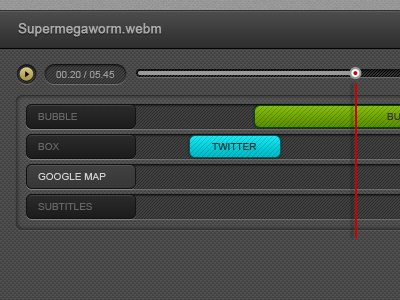 UI for the Mozilla Popcorn Maker tool ui layers track