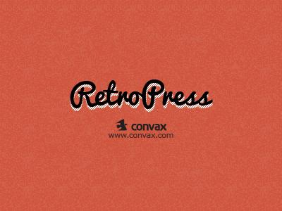 Retropress - Coming Soon! logo texture retro