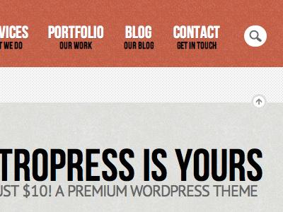 Retropress Wordpress Theme retro wordpress theme premium search menu
