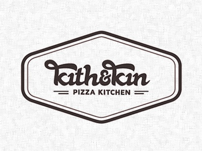 Kith & Kin Logo Design logo brand identity retro vintage typography