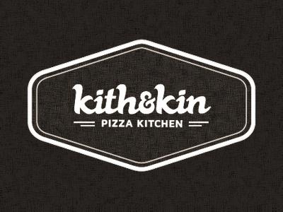 kith & kin Logo logo texture retro pizza