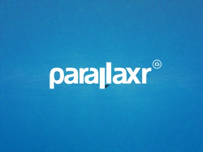 Parallaxr Logo logo brand identity clean minimalistic typography