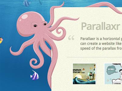 Parallaxr - coming soon! webdesign parallax illustration octopus