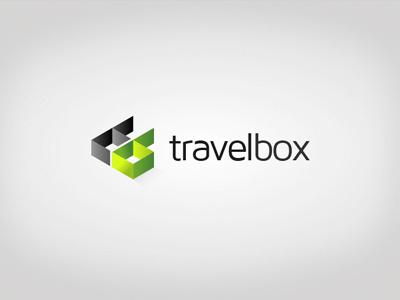 Travelbox Logo box logo brand green 3d