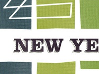 Early Art Direction; New Year newsletter