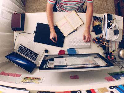 My Workspace workspace desk apple macbook retina thunderbolt designer work desktop process workplace