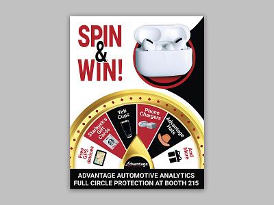 Spin 'n Win Flyer Design ui book cover logo design animation branding graphic design illustration minimal typography flyer win spin spin n win flyer design