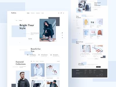 Fashion Ecommerce Landing Page best design minimalism daily ui clean ui ui online shop homepage webdesign uidesign fashion ecommerce website landing page ui  ux