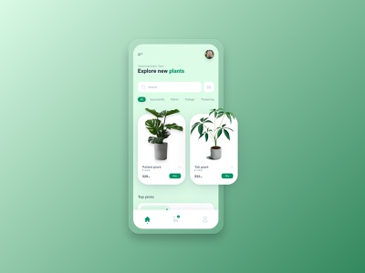Plant app mobile ui plants