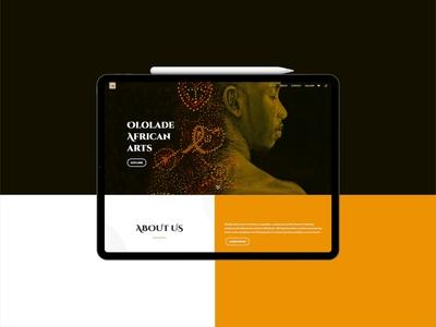 Art Gallery Website figma react native reactjs adobe photoshop adobe xd website design web design website web