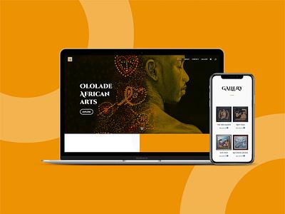 Ololade African Arts Website ui ux website design website adobe photoshop figma reactjs adobe xd web design