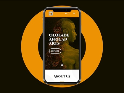 Mobile View Of Ololade Arts' Website adobe photoshop adobe xd figma reactjs uiux website design webdesign website mobile responsive