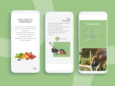 Agricultural Website (Mobile View) epowerng mobile responsive mobile view mobile web design website