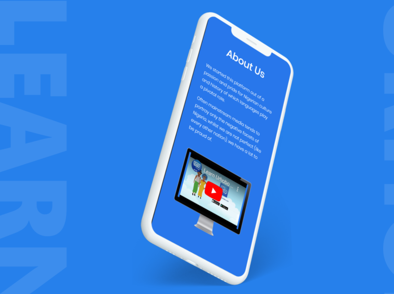 Learn Urhobo Web App (Mobile View) mobile view webb app design web app epower ng epower web design website responsive design