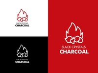 Logo Design for Black Crystals Charcoal branding and identity brand identity brand branding logo design logo