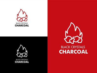 Logo Design for Black Crystals Charcoal branding and identity brand identity brand branding logo design logo