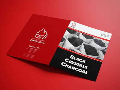A4 Bifold Brochure for Black Crystals Charcoal brochure design bifold brochure brochure branding