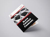 Bifold Brochure Design for Black Crystals Charcoal branding brochure bifold brochure design