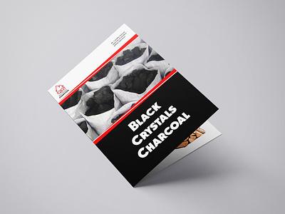 Bifold Brochure Design for Black Crystals Charcoal branding brochure bifold brochure design