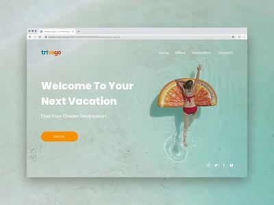 Trivago landing page landingpage adobexd webdesign web ux ui design