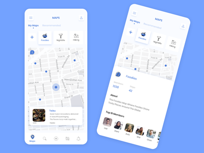Maps App mobile ui mobile design uiux ux application app design adobe xd ios adobexd ui ux ui design