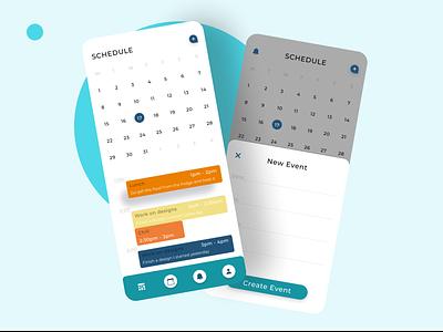 scheduler app ui design app ux ui uidesign mobile ui mobile designer mobile design mobile app design mobile app