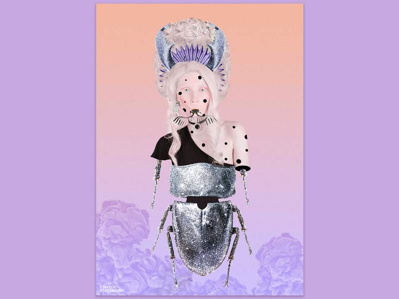 Lady Bug collage series