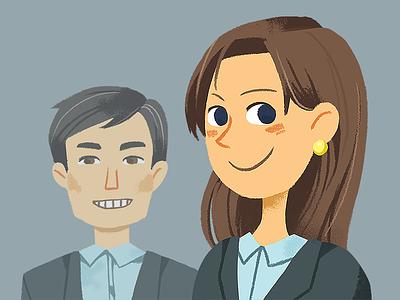 Jocelyn and Greg illustration