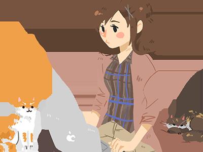 Cats illustration cats portrait