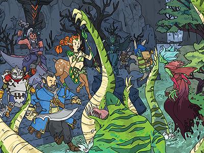 Tidehunter's Ravage dota illustration gaming valve