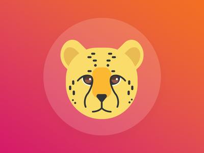 Cheetah illustration animal cat cheetah