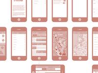 Festival App Wireframe