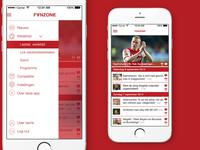 Fanzone app designs