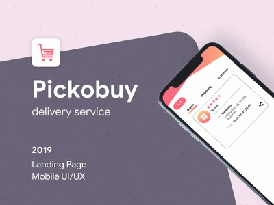 Pickobuy landing page developement company uiux mobile ui delivery