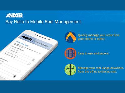 Promo for Mobile Reel Management industrial mobile design mobile app promotional design marketing design