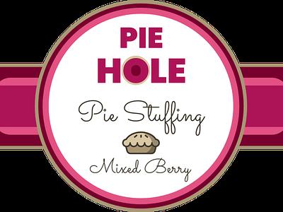 Stuff Your Pie Hole logo design subscription box digital design name badge packaging design brand design branding and identity