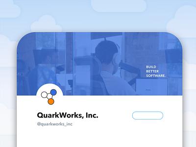 QuarkWorks Motto app logo design brand motto