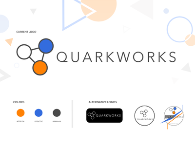 QuarkWorks Branding illustration icon branding logo design brand
