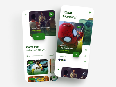 Xbox Cloud Gaming - landing page personal landing page gaming cloud landingpage games xbox design ui playground ux concept design