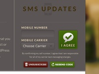 SMS signup