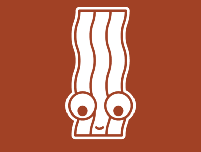Bacon | Face bacon illustrator redbubble illustration faces characters cute character icon adobe graphic