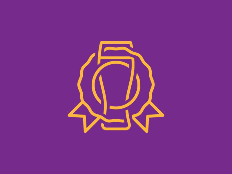 Beer Award 3d depth interwoven graphic design brewery beer award vector logo design branding icon adobe graphic
