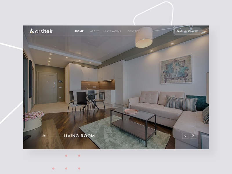 Landing page for Interior Design - Architecture landing page desktop photograph website landingpage architecture architect interior