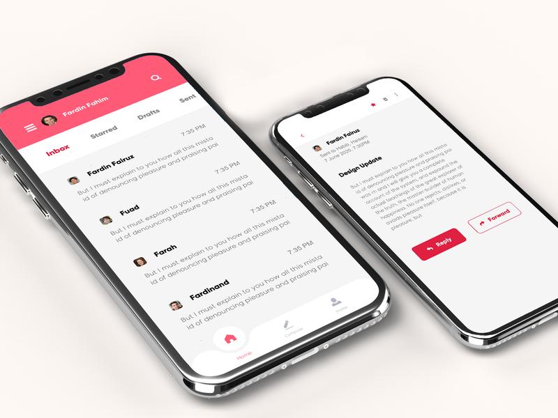 Email Client App UI Design app design uidesign email app ui design app ui design email app design email app