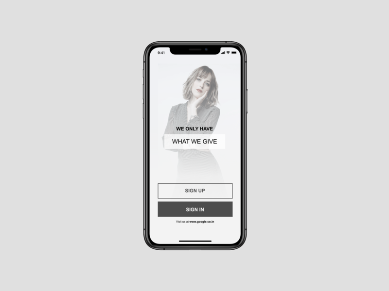 UI Design for sign up page