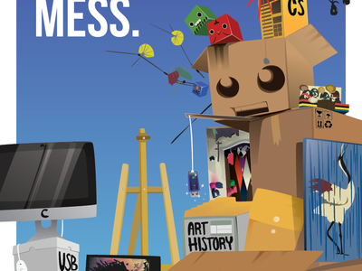 Mess. illustrator school poster messy studio