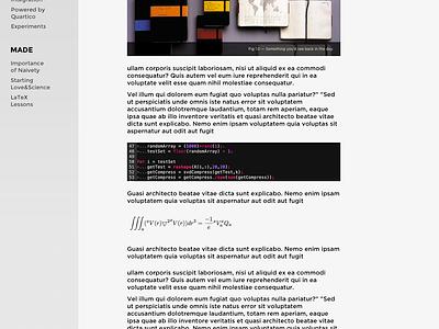 Soon... website sketch personal blog