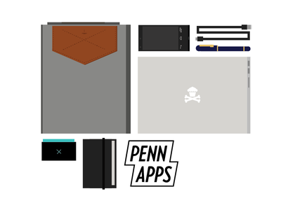 Hackathon Essentials. vector hackathon pennapps illustration geometric