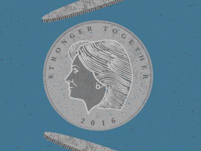 2016 coin flip, Clinton
